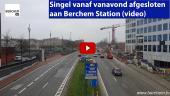 Singel vanaf vanavond afgesloten aan Berchem Station