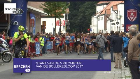 Start van de 5 KM van de Bollekesloop 2017 in Berchem Berchem TV