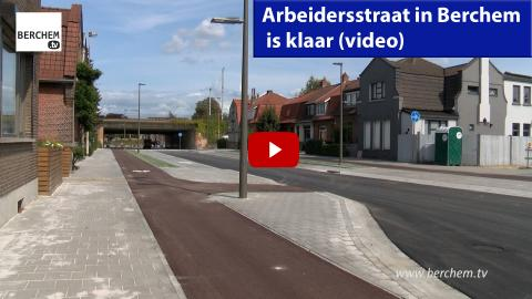 Arbeidersstraat in Berchem is klaar