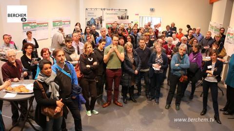 Buurtbewoners tekenen mee aan groenzone fietsostrade Saffierstraat Berchem TV