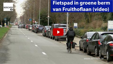 Fietspad in groene berm van Fruithoflaan Berchem TV