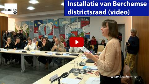 Installatie van Berchemse districtsraad Berchem TV
