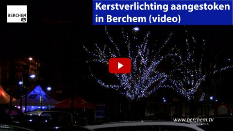 Kerstverlichting aangestoken in Berchem (video) Berchem TV Vredestraat