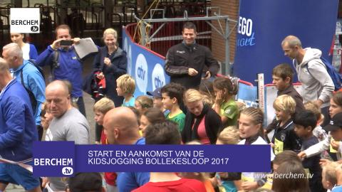 Start en aankomst van de Kidsjogging van de Bollekesloop 2017 in Berchem Berchem TV