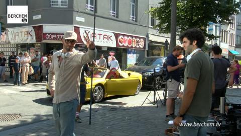 Filmopnames Patser van Adil El Arbi en Bilall Fallah in Berchem Berchem TV