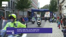 Start van de 10 KM van de Bollekesloop 2017 in Berchem Berchem TV
