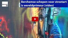 Kris Gysels Berchemse schepen voor streetart is wereldprimeur Berchem TV