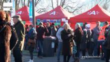 Grote opkomst voor nieuwjaarsdrink district Berchem TV Filip Williotstraat
