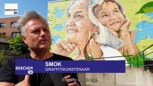 Kunstwerk na lockdown toont verbondenheid van jong en oud Berchem TV Kris Gysels SMOK Corona covid Marc Van Ranst Moretus jeugddienst Berchem Borgerhout TV