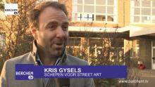 Street Art kleurt De Boomhut en de Bikschotelaan Berchem TV Bikschotelaan Artoon Kris Gysels
