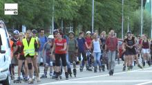 Rollerparade doorheen Berchem Berchem TV